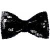 Bow Tie Sequin Black